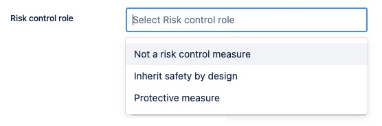 The field Risk control role in the Software Specification issue. Digital Health