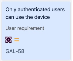 User requirement or a functional specification